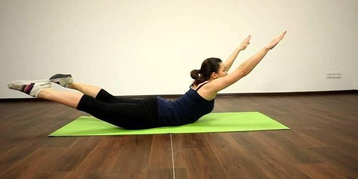 Вправа Човник для м'язів спини і преса - як робити з фото і відео
