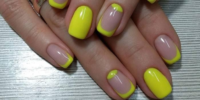 Жовтий манікюр - варіанти дизайнерського оформлення нігтів з описом і фото