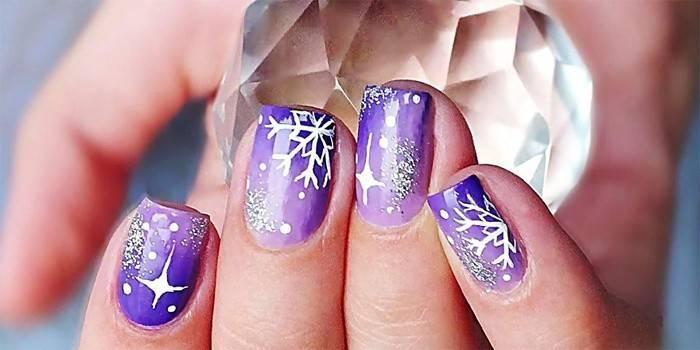 Як намалювати сніжинку на нігтях: покрокова інструкція дизайну з фото і відео