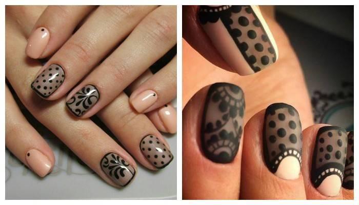 Манікюр вуаль: дизайн нігтів колготки