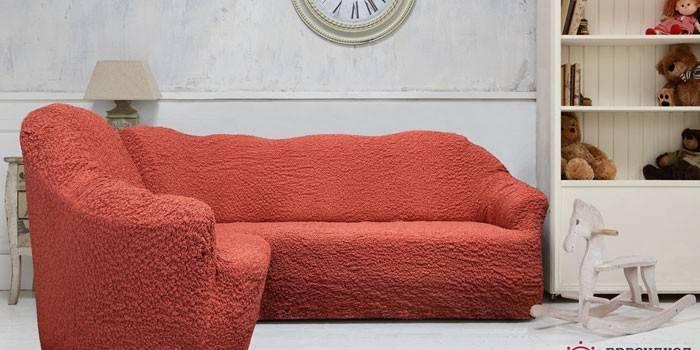 Чохол на диван і крісла універсальний і на резинці - як зшити своїми руками за викрійками або на замовлення