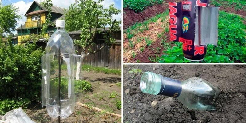 Відлякувач кротів своїми руками з пластикових пляшок: пристрій вертушки