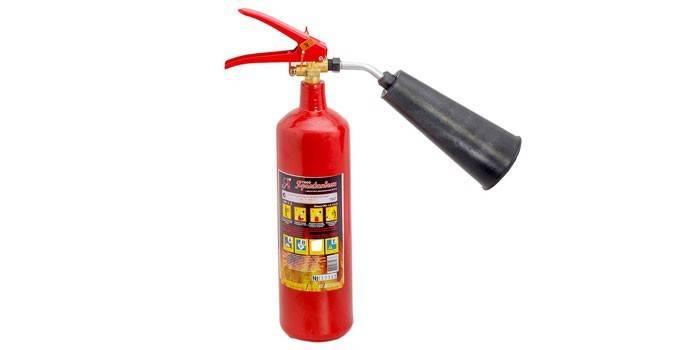 Вогнегасник вуглекислотний - принцип дії, призначення, технічні характеристики та як користуватися