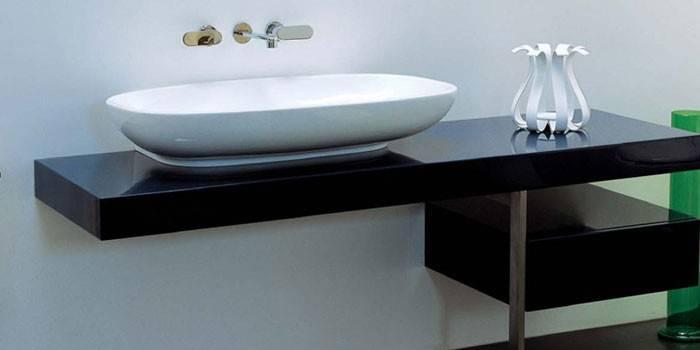 Стільниця для ванної кімнати під раковину - огляд кращих моделей з описом характеристик і цінами