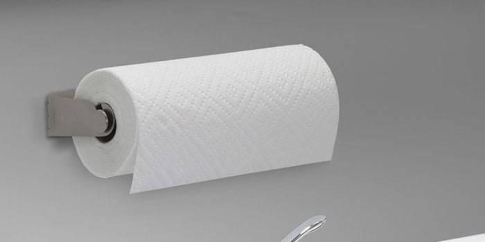 Тримач для паперових рушників - огляд кращих металевих, пластикових і дерев'яних з фото