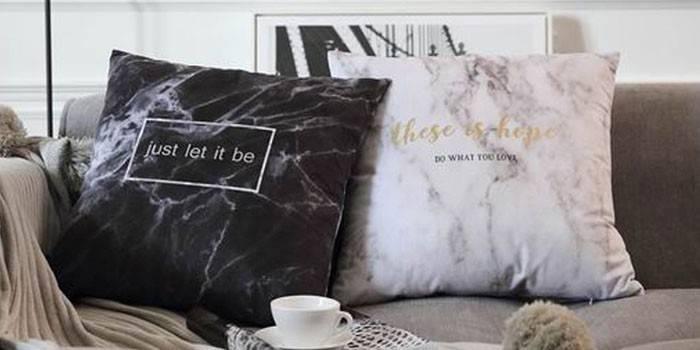 Подушки для дивана декоративні для оформлення інтер'єру, майстер-клас з пошиву