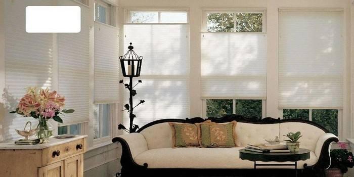 Штори плісе для пластикових, мансардних або арочних вікон - опис популярних видів з цінами