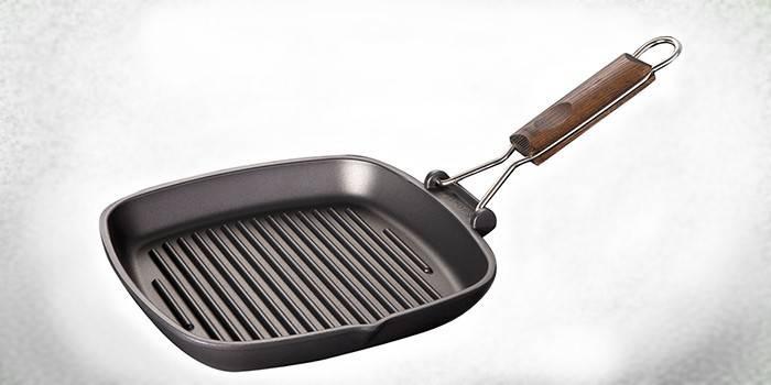 Сковорода гриль - як готувати на рифленому покритті: як правильно смажити м'ясо і овочі, краща посуд з цінами та фото, відгуки