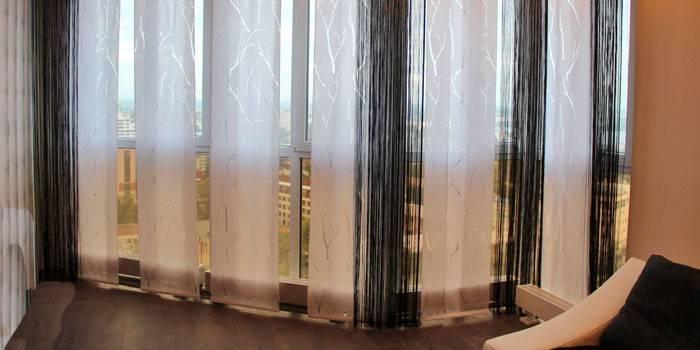 Японські штори - плюси і мінуси панелей, як кріпляться і особливості дизайну