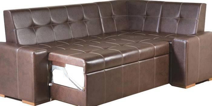 Кутовий диван зі спальним місцем на кухню або вітальню
