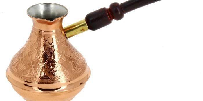 Турка для кави мідна, керамічна, скляна або латунна