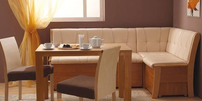 Кухонний куточок зі спальним місцем розкладний, фото і відгуки