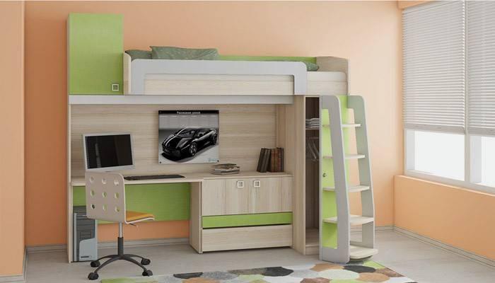 Ліжко-горище з робочою зоною для підлітка: як правильно вибрати