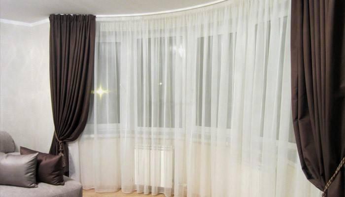 Дизайн штор для залу: стилі і новинки 2019 року з фото