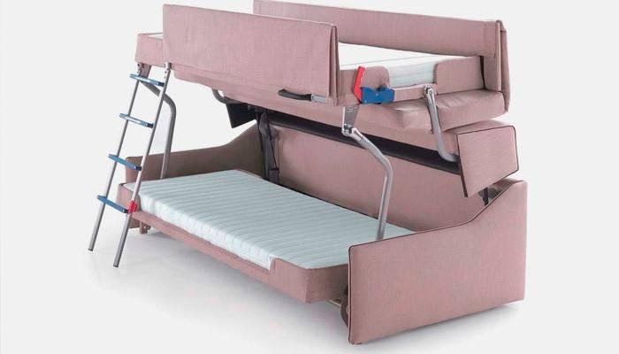Ліжко-горище з диваном внизу для батьків і дітей: як вибрати