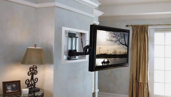 Кріплення для телевізора на стіну: як вибрати і зробити кронштейн своїми руками