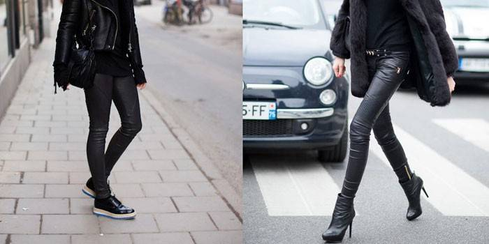 Шкіряні штани - з чим носити чоловікові або дівчині, огляд кращих моделей з натуральної або екошкіра