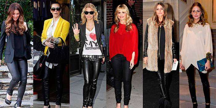 Шкіряні легінси - з чим носити, кому підійдуть і модні жіночі образи з фото