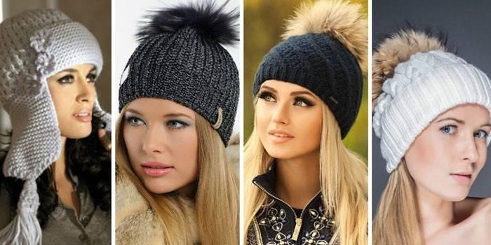 Шапки в'язані жіночі на зиму або демісезонні - як і з чим носити, огляд кращих моделей з відгуками