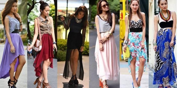 Довгі спідниці - з чим носити вузькі або пишні, огляд красивих моделей з описом і фото