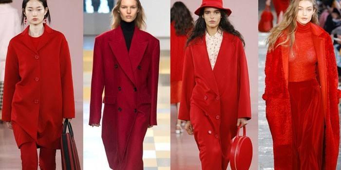 Червоне пальто: з чим носити
