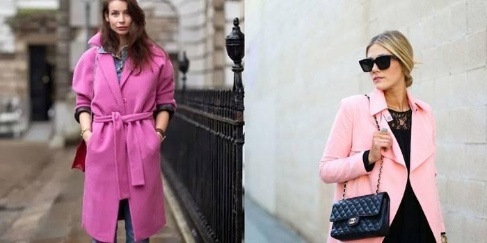 Рожеве пальто - ідеї модних образів і як правильно підібрати модель