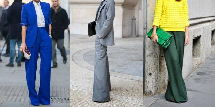 Брюки кльош від коліна, від стегна і з високою талією - модні тенденції для жінок і чоловіків