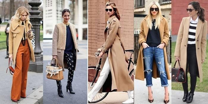 Бежеве пальто - огляд кращих моделей з вовни і кашеміру