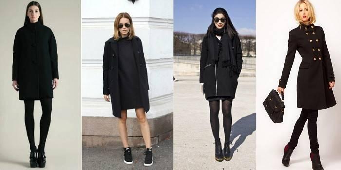 Чорне пальто - огляд актуальних жіночих моделей, з чим носити і стильні образи