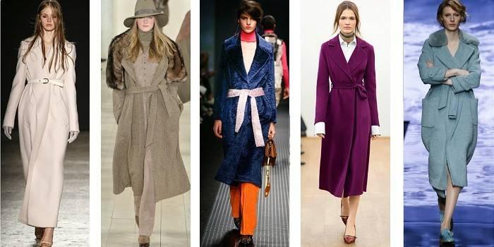 Пальто-халат із запахом або на ґудзиках - з чим носити і ідеї стильних образів з фото
