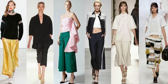 Штани кюлоти: модні і стильні моделі для жінок