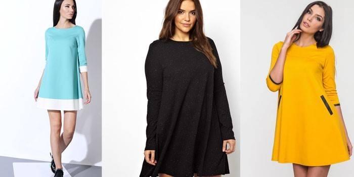 Сукня-трапеція для дівчаток і жінок