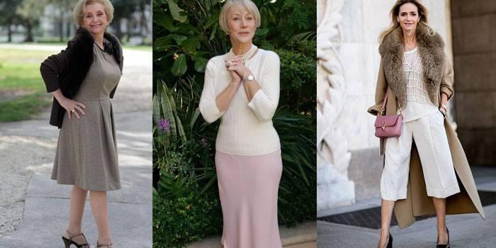 Мода для жінок за 50 - гардероб на рік