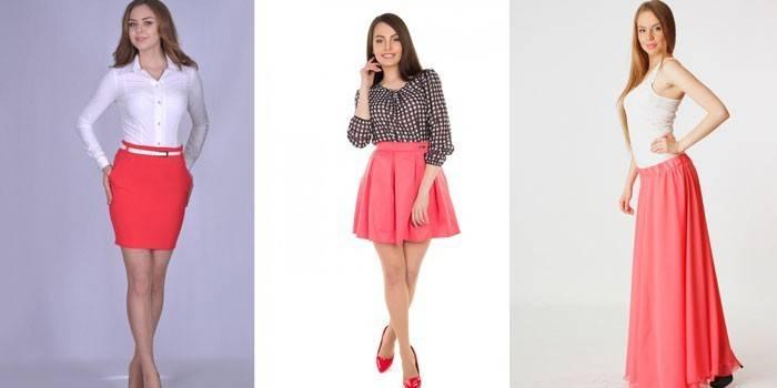 З чим носити коралову спідницю: модні образи з фото