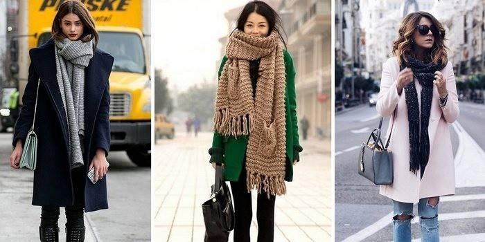 Як зав'язати шарф на пальто: як правильно поєднувати аксесуар з Вашим гардеробом