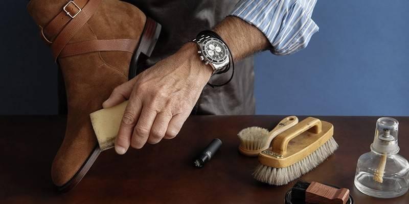 Засіб для чищення замшевого взуття від забруднень
