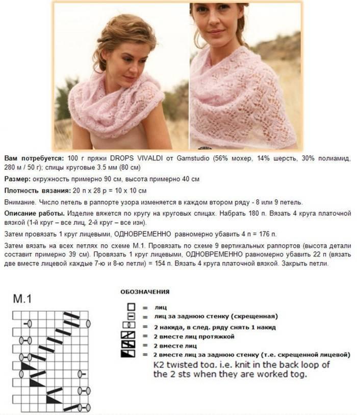 Як зв'язати шарф, снуд і хомут спицями та гачком: схеми для початківців