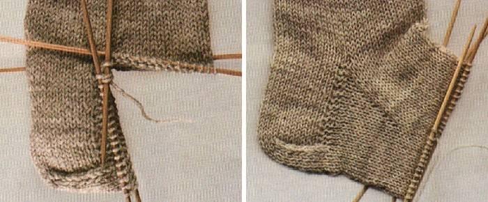 Як в'язати на спицях п'яту носка: схема і поетапне опис відео