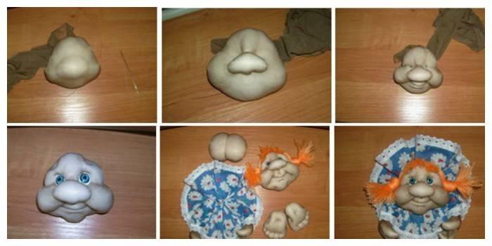Ляльки з капрону - покрокова інструкція виготовлення дитячої іграшки