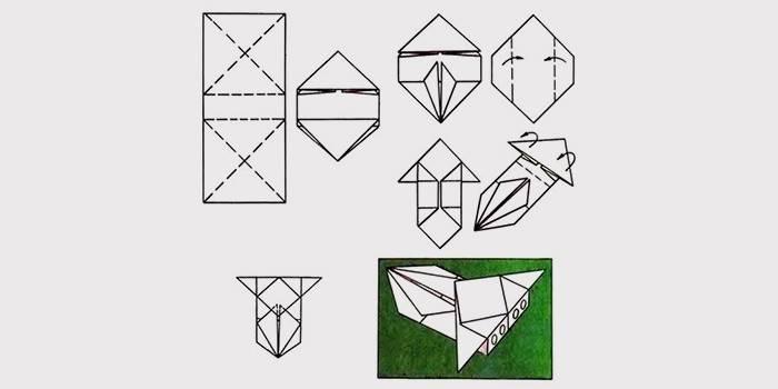 Як зробити з паперу машинку орігамі своїми руками: схема і відео