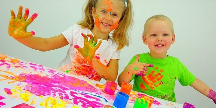 Пальчикові фарби для малювання в домашніх умовах: склад, користь і ціна, рецепти для дітей