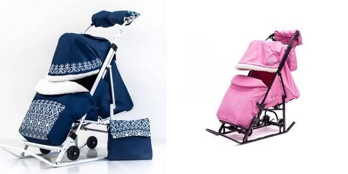 Санки-коляска для дітей - опис з фото і цінами, де купити і як вибрати кращу