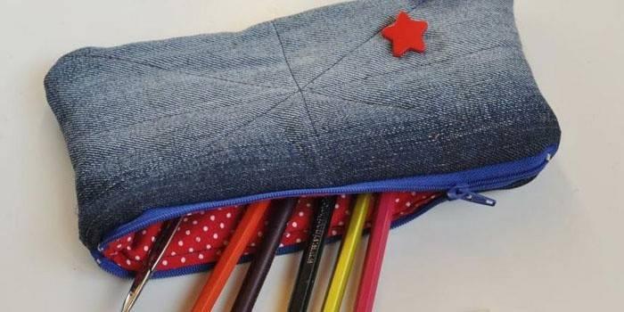 Як зробити пенал для школи своїми руками з паперу, зшити з тканини або зв'язати - незвичайні ідеї