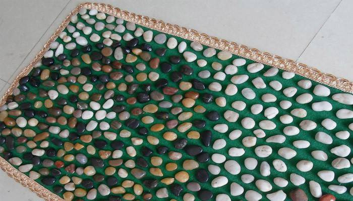 Масажний килимок для ніг - своїми руками для дітей, відео