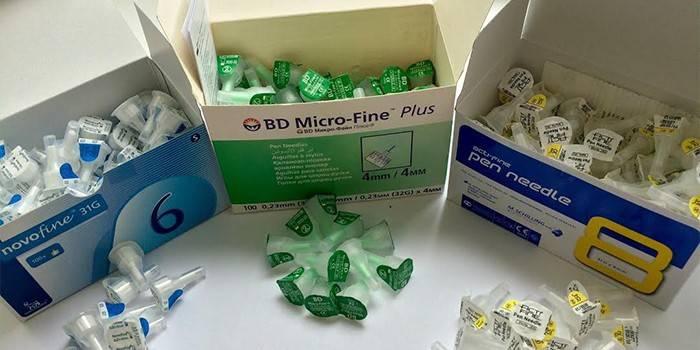Голки для інсулінових шприц-ручок - виробники, різновиди і ціна