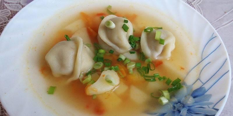 Суп з пельменями покроково з фото