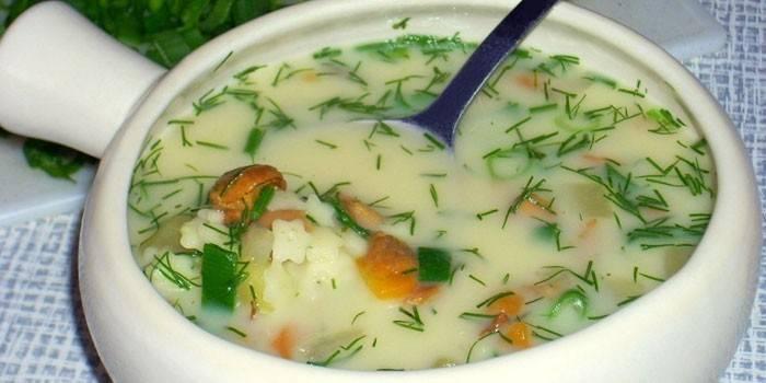 Сирний суп з грибами: як приготувати перша страва