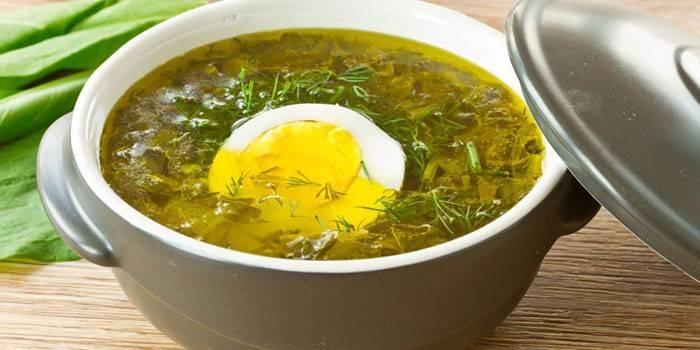 Суп зі щавлем - як приготувати за смачними рецептами перше пісне блюдо або на м'ясному бульйоні з фото