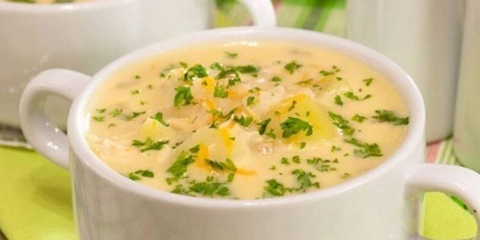Картопляний суп: приготування з фото