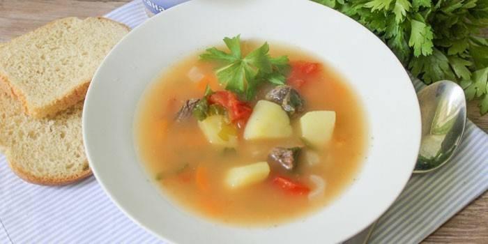 Суп з яловичиною - смачні рецепти приготування перших страв на яловичому бульйоні з фото
